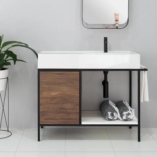 Antonio 600 Floor Mounted Vanity/Left Hand Bowl