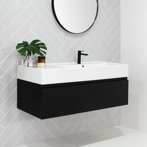 Capri 800 All Draw Wall Hung Vanity/Offset Bowl