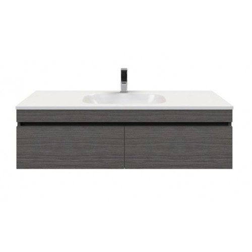 Allure 1200 Wall Hung Vanity In Polytec Maroso Milan Ravine With Stadium Acrylic Top