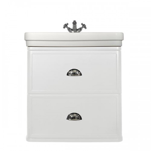 Stafford 62 Wall-Mounted Basin & Vanity/Matte White