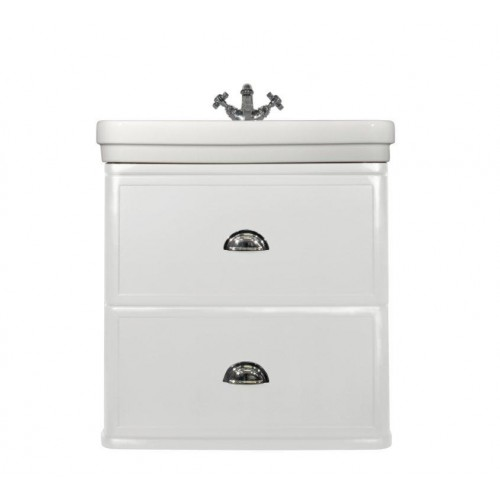 Stafford 62 Wall-Mounted Basin & Vanity/Gloss White