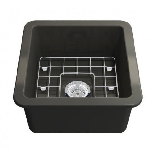 Turner Hastings Cuisine 46 Inset Fine Fireclay Matte Black Sink