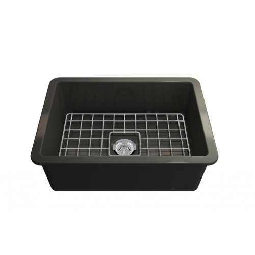 Turner Hastings Cuisine 68 Inset Fine Fireclay Matte Black Sink