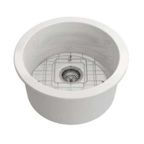 Turner Hastings Cuisine Round 47 Inset / Undermount Fine Fireclay Sink