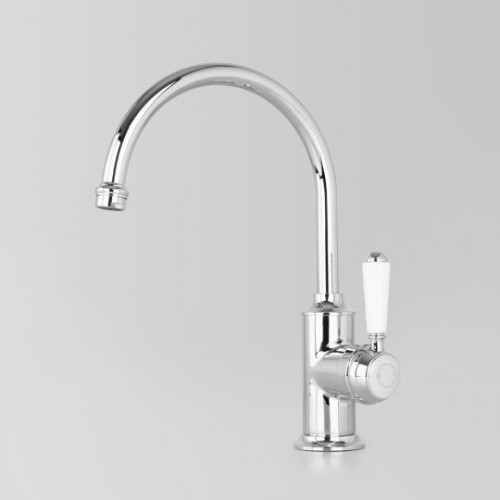 Olde English Signature Collection Sink Mixer/White Porcelain Lever Handle