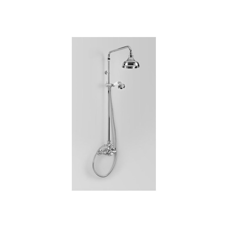 Olde English Signature Collection Exposed Mixer Shower Set with Handshower/Chrome