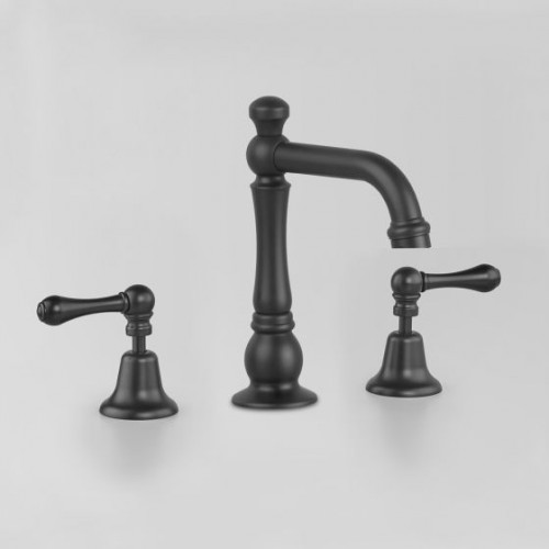 Astra Walker Olde English Collection Basin Set Matte Black With Lever Handles
