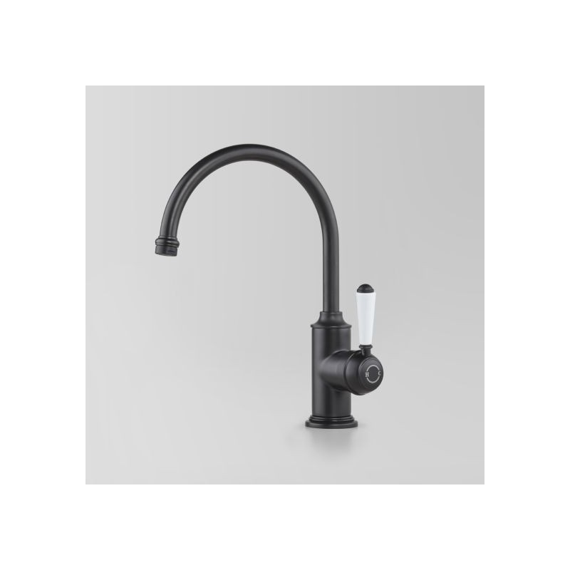 Olde English Signature Collection Sink Mixer, with White Porcelain Lever Handle