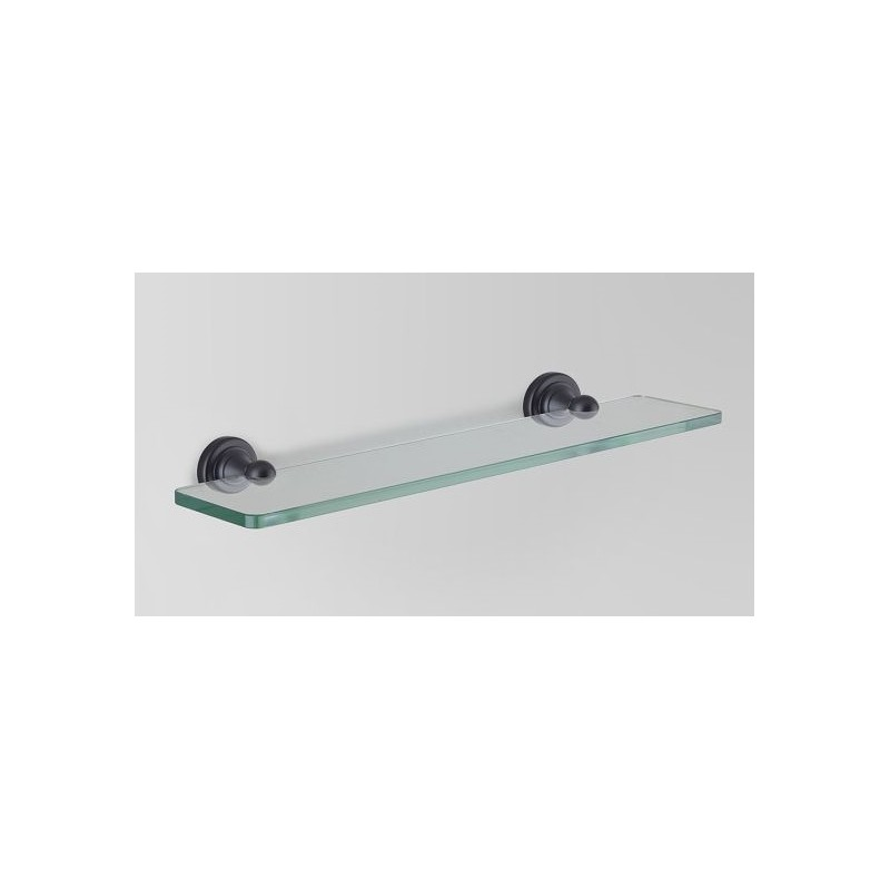 Olde English Matte Black Glass Shelf