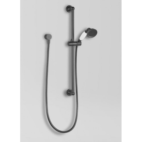 Astra Walker Matte Black Olde English Collection Rail Shower