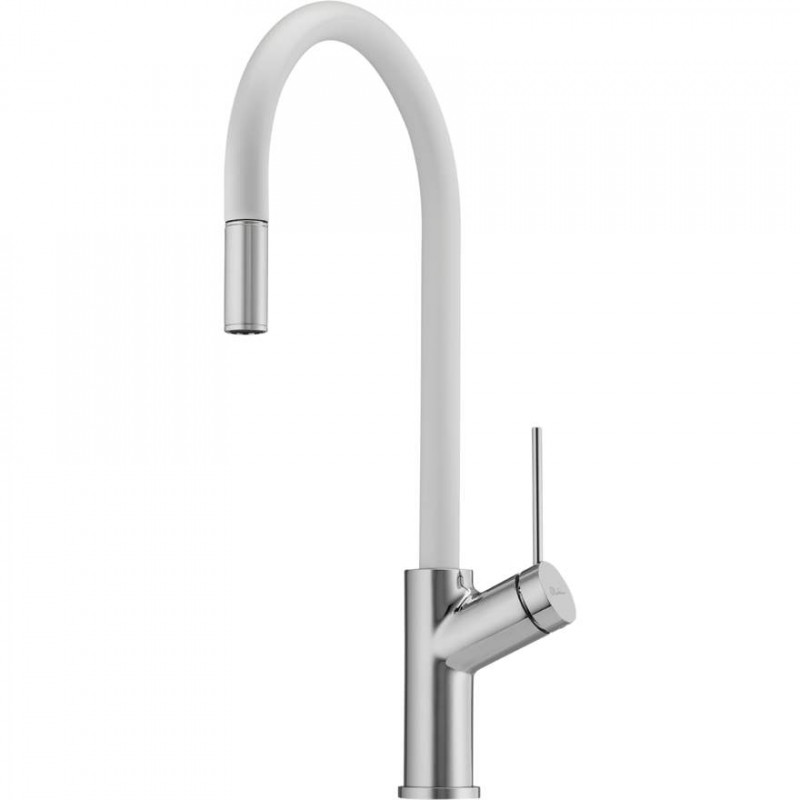 Vilo White Pull Out Sink Mixer