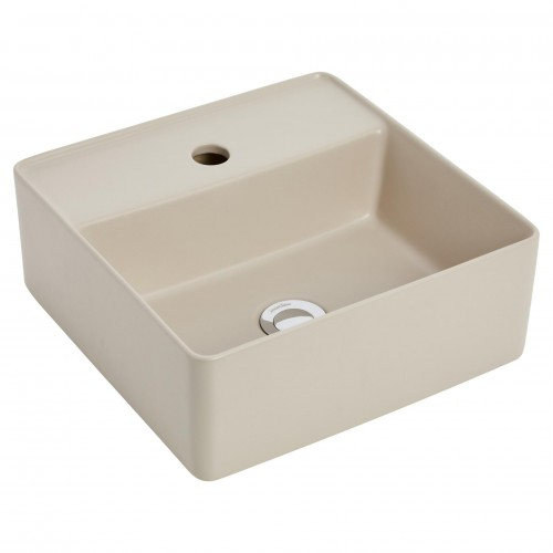 Venezia Sand Square Counter Top Basin/1 Tap Hole