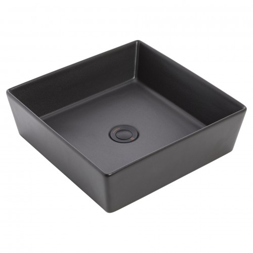 Venezia Square Graphite Counter Top Basin/No Taphole