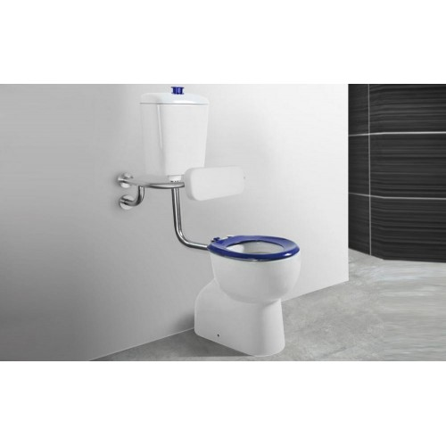 Paco Jaanson Care Connector Toilet Suite with Raised Height Pan + Button