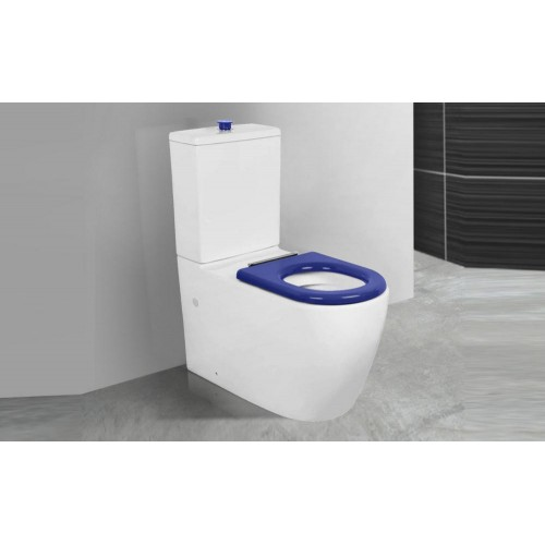 Paco Jaanson Care Rimless Toilet Suite with Raised Height Pan + Button