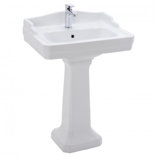 Johnson Suisse Colonial Wall Basin With Pedestal