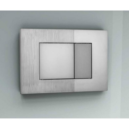 Wilco Piave In Wall Cistern Push Button Set/Satin Chrome