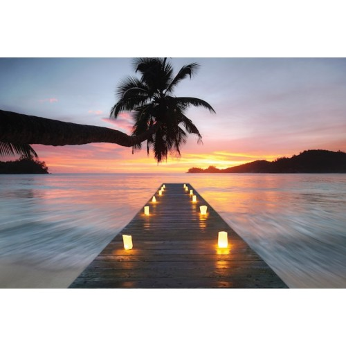 Seychelles Nights Canvas Wall Art/Large