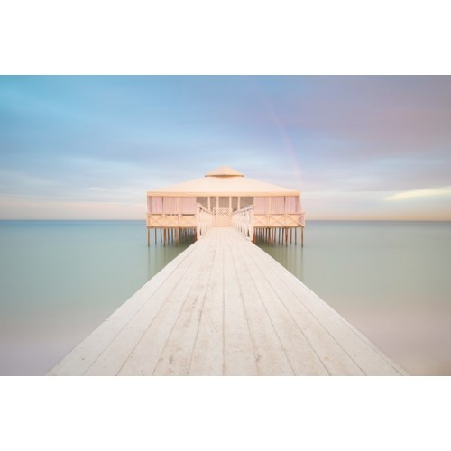 Romantic Pier Canvas Wall Art/Small