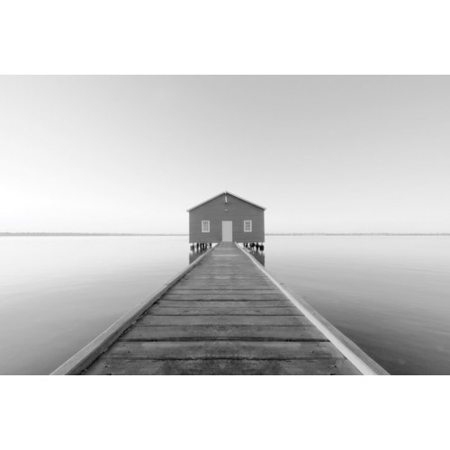 River Jetty Canvas Wall Art/Large