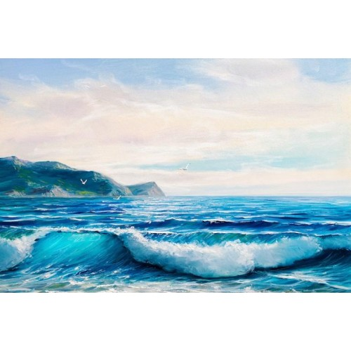 Morning Wave Canvas Wall Art/Large
