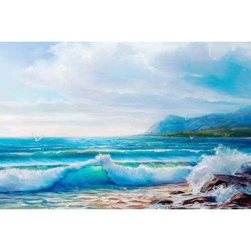 Morning Wave II Canvas Wall Art/Large