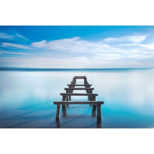 Lake Exposure Canvas Wall Art/Small
