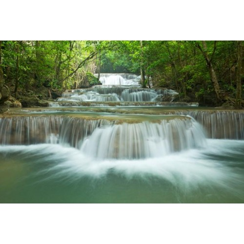 Forest Waterfall Canvas Wall Art/Large