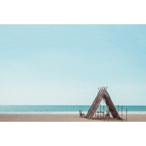 Beach Hut Canvas Wall Art/Small