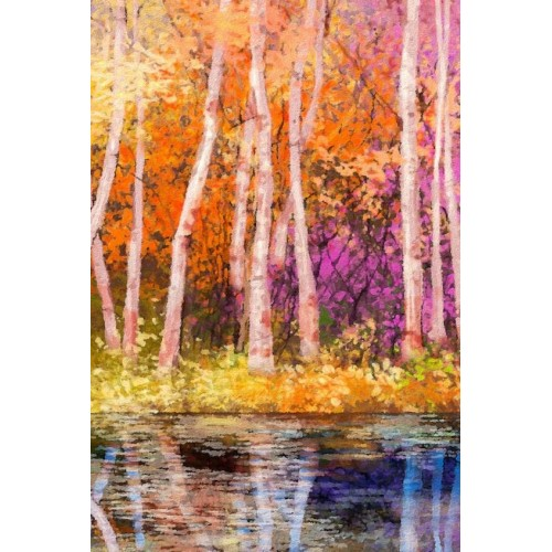 Aspen Colour II Canvas Wall Art/Large