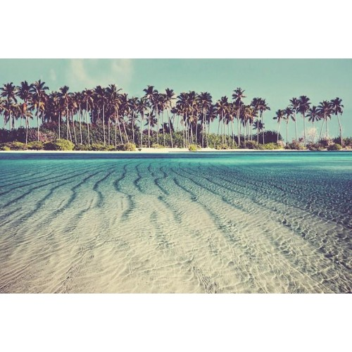 Tropical Maldives Canvas Wall Art/Large