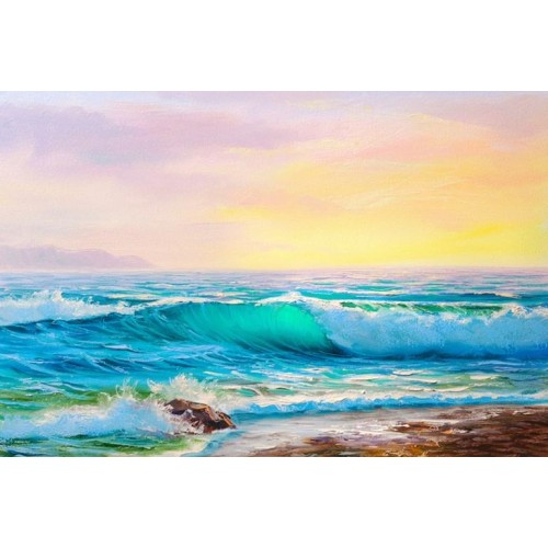 Golden Sunset I Canvas Wall Art/Large