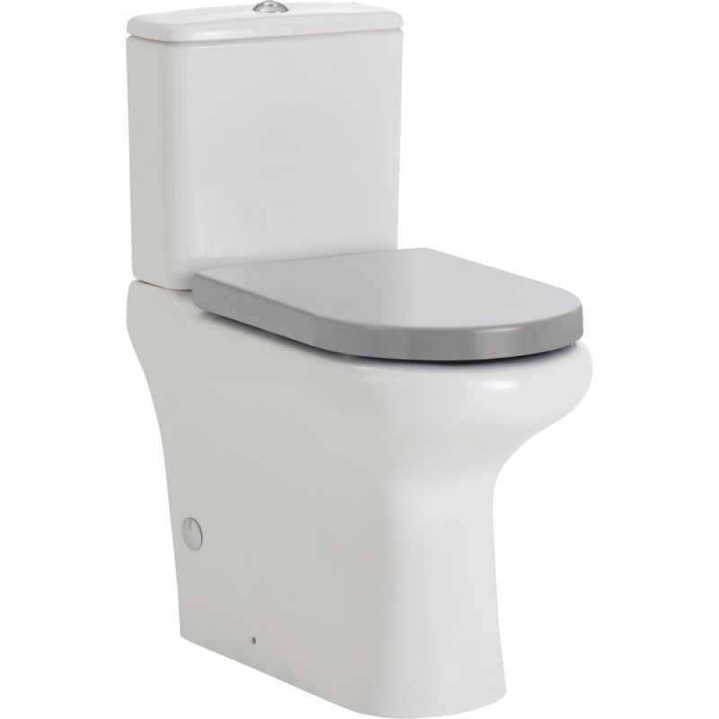 RAK COMPACT Ambulant Back-to-Wall Suite, P Trap - Grey Seat