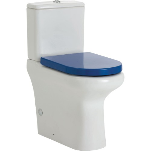 RAK Compact Ambulant Back-to-Wall Suite, P Trap - Blue Seat