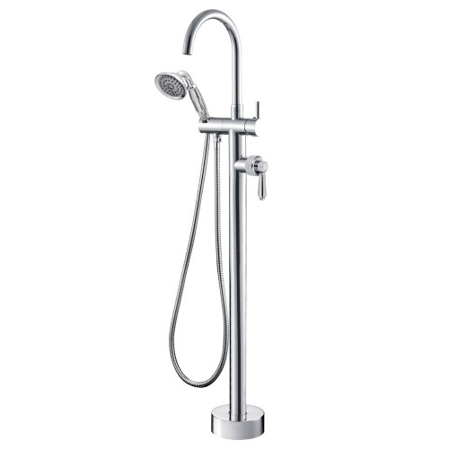 Fienza Eleanor Floor Mixer & Shower, Chrome