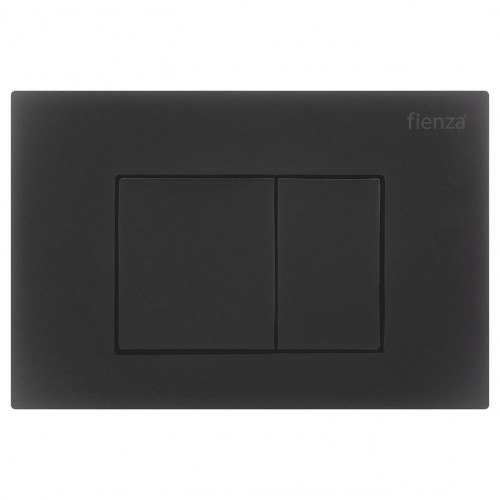 R&T Matte Black, Square Button Flush Plate