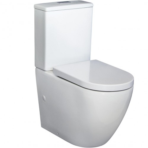 "Fienza Alix Rimless Ambulant Back-to-Wall Suite ""P"" Trap"