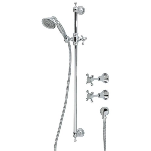 Fienza Lilian Rail Shower Set with taps, Chrome