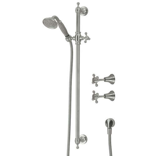 Fienza Lilian Rail Shower Set with taps, Brushed Nickel