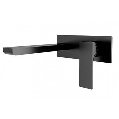Nero Astra Wall Mixer with spout Black