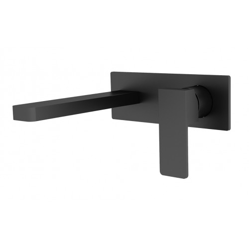 Nero Celia Wall Basin Mixer Black