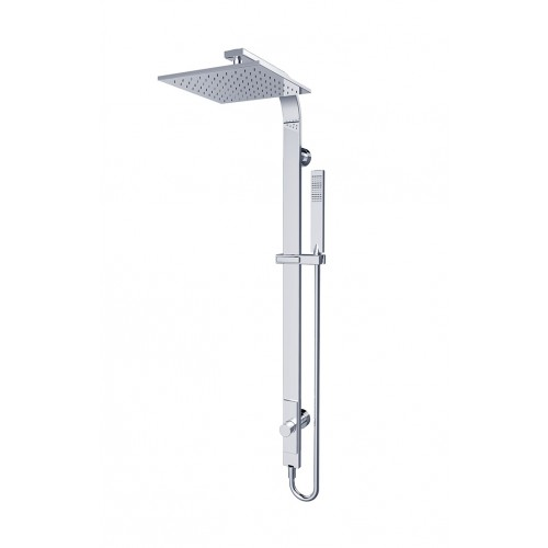 Nero Rain Square Shower Set – Single Hose