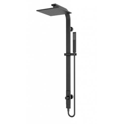 Nero Square Rain Shower Set Matte Black – Single Hose