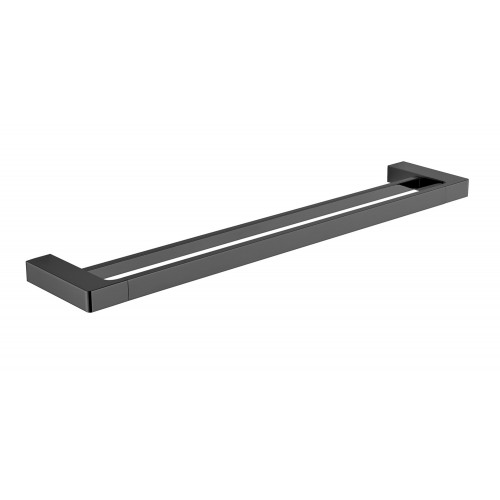 Astra Double Towel Rail Matte Black 600mm