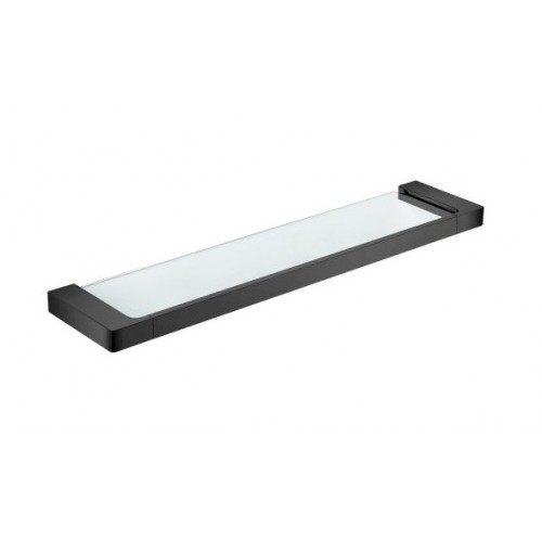 Astra Glass Shelf Matte Black