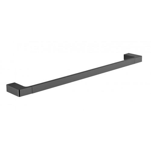 Astra Single Towel Rail Matte Black 600mm