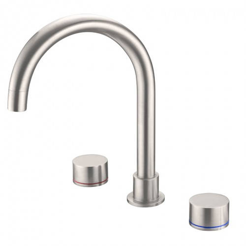 Nero Kara Sink Set Brushed Nickel