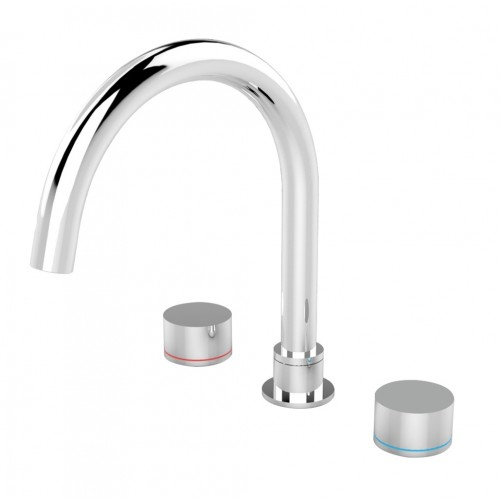 Nero Kara Bath Set Chrome