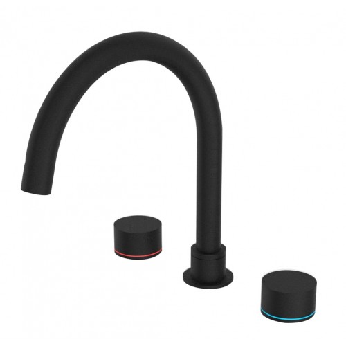 Nero Kara Bath Set Matte Black