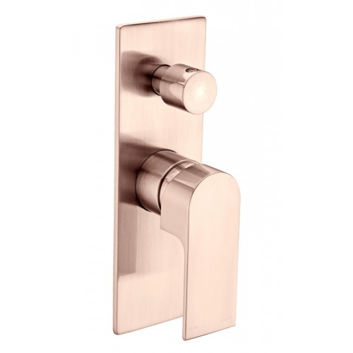Nero Vitra Wall Mixer with Diverter Brushed Rose Gold